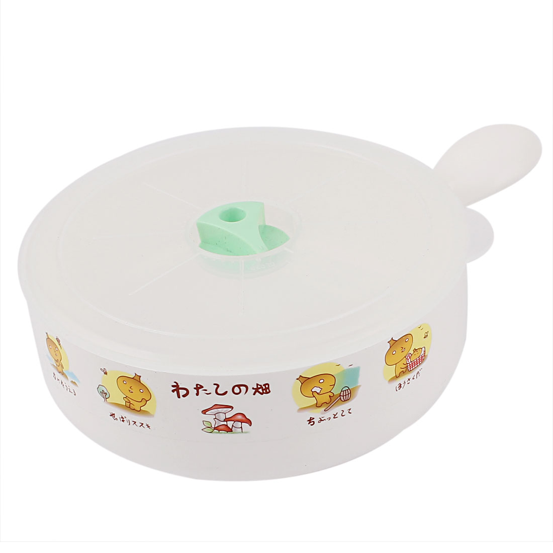 Cartoon Pattern Detail White Plastic Dishwasher Microwave Oven Composite Bowls