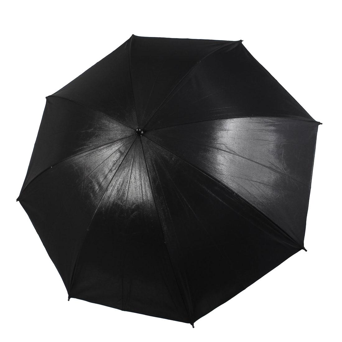 "43"" 109cm Photography Studio Flash Light Reflector Umbrella Black Silver Tone"
