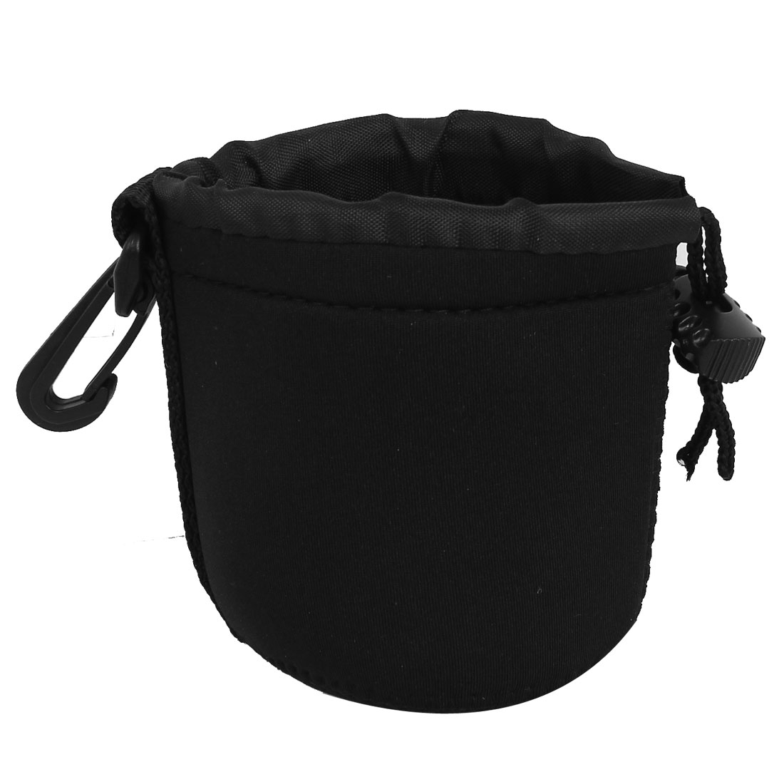 Size S Neoprene Lens Carrying Pouch Bag Holder Black for Digital Camera