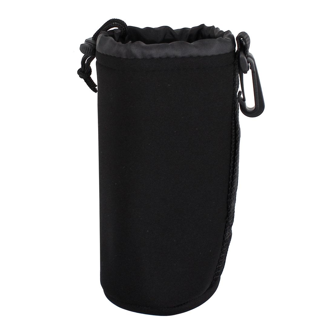 Size L Neoprene Lens Carrying Pouch Bag Holder Black for Digital Camera