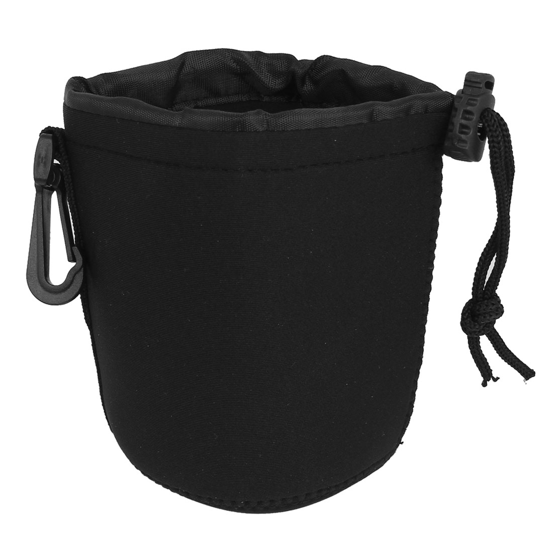 Size M Neoprene Lens Carrying Pouch Bag Holder Black for Digital Camera