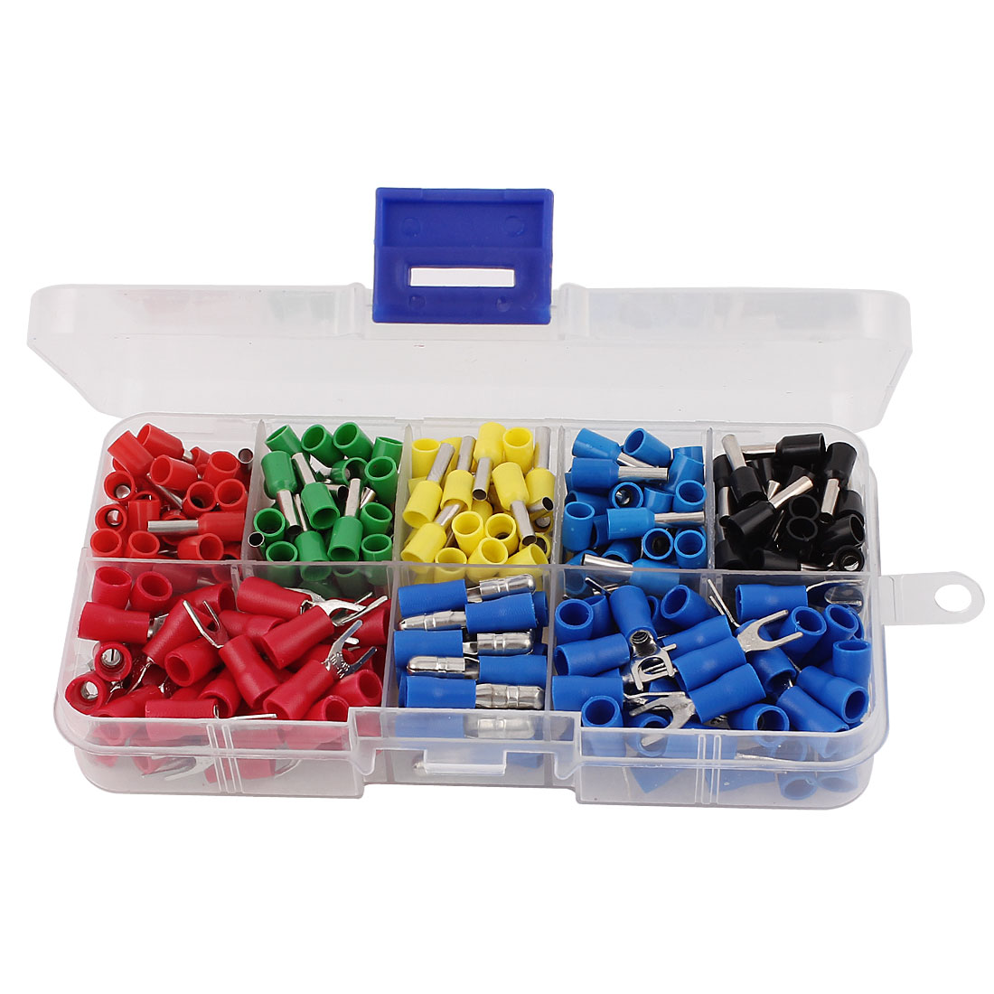 310 Pcs Heat Shrink Insulated Electrical Wire Tube Terminal Connector Assort Set
