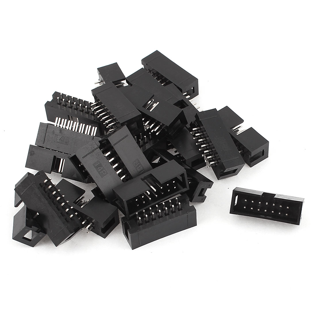 23 Pcs Dual Row 14-Pin 2.54mm Straight Box Header Connector IDC Male Sockets