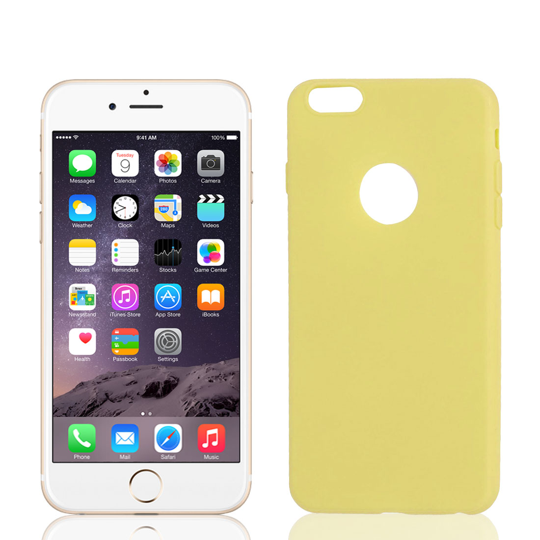 Soft Silicone Skin Case Cover Protector Yellow for iPhone 6 Plus 5.5""
