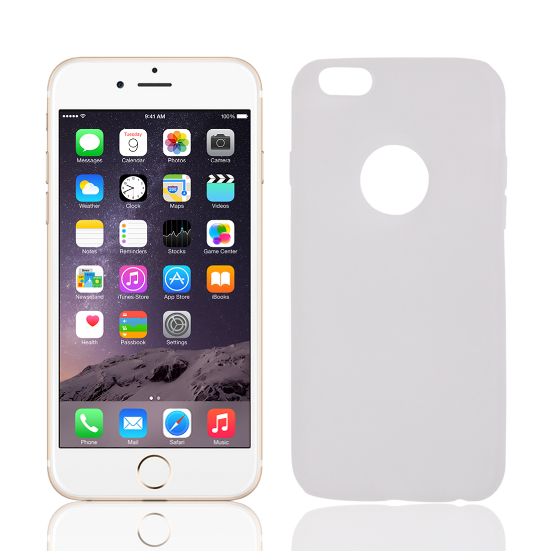 Soft Silicone Case Skin Bumper Cover Protector White for iPhone 6 4.7""