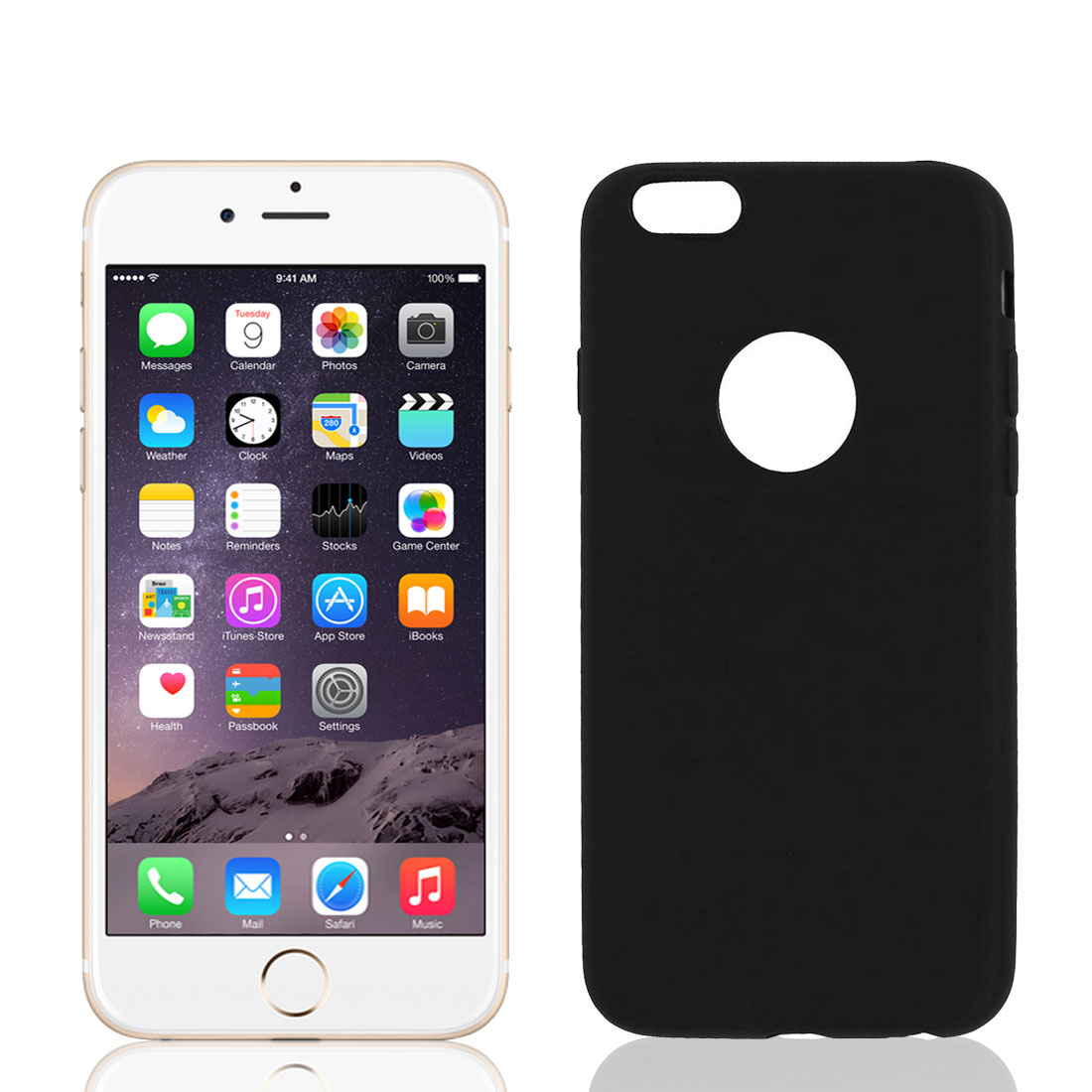 Soft Silicone Case Skin Bumper Cover Protector Black for iPhone 6 4.7""