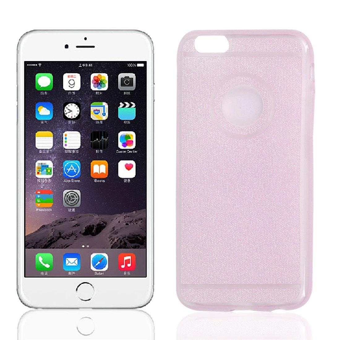 "TPU Slim Glitter Powder Bumper Cover Case Shell Light Pink for iPhone 6 4.7"""
