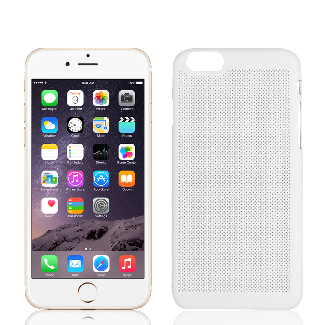 Ultra Thin Mesh Net Hard Protective Cover Case Skin White for iPhone 6 4.7""