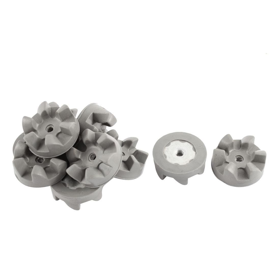 10 Pcs 6 Teeth 30mm Dia Kitchen Aid Blender Clutch Coupling Coupler Gray