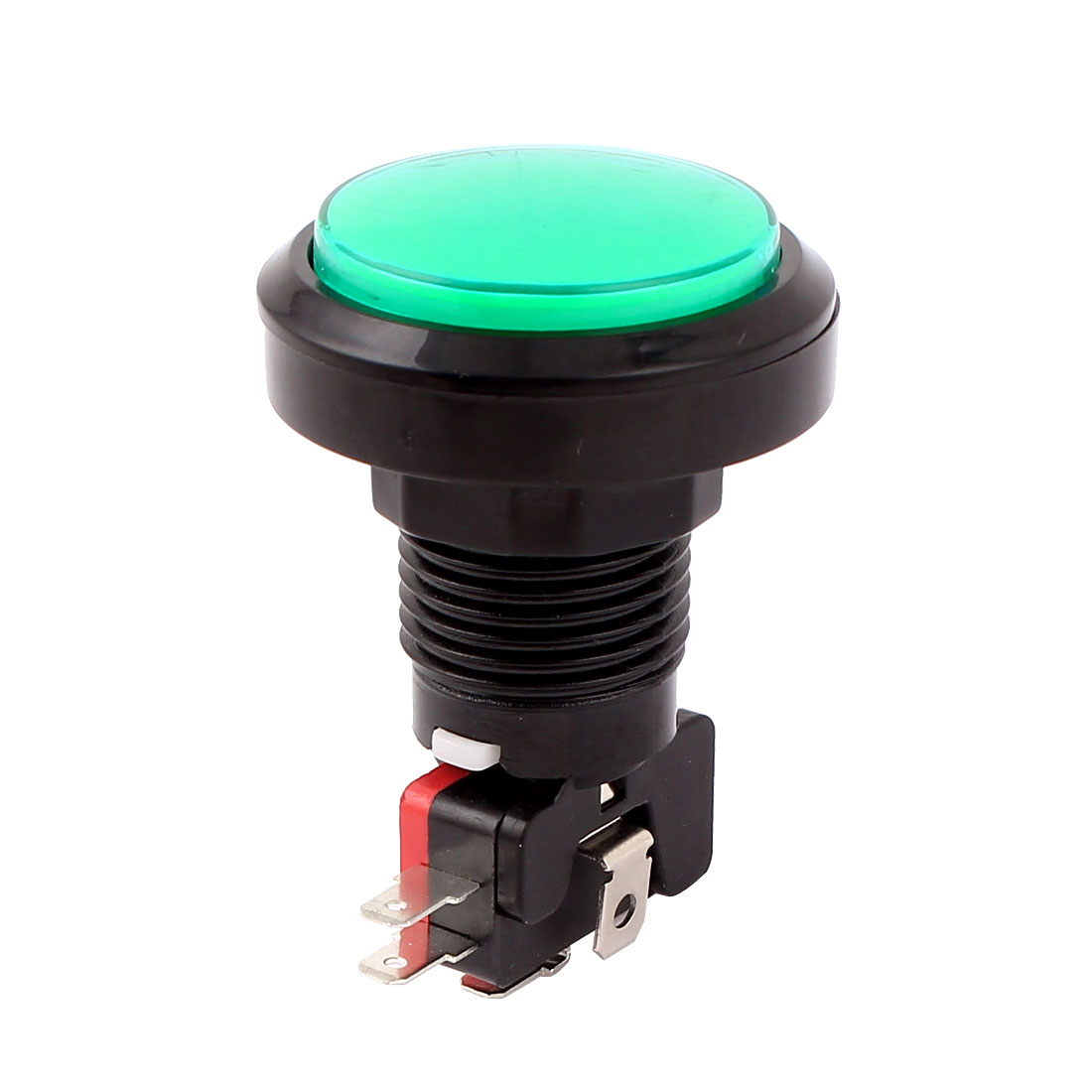 SPDT Momentary 22mm Green Lamp Push Button Micro Switch for Arcade Game