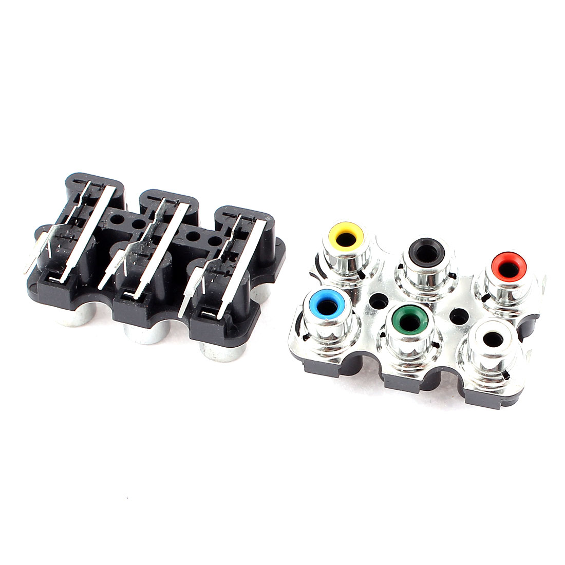 2pcs 6 Way PCB Mount Stereo Audio Video Jack AV Socket RCA Female Connector