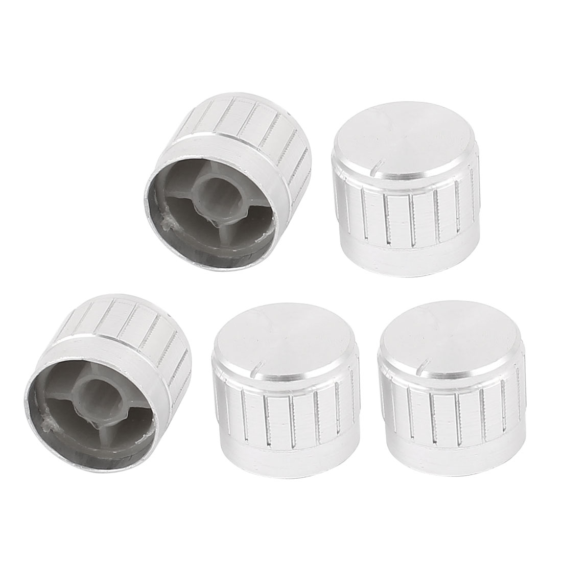 5pcs 5.5mm Knurled Shaft Amplifier AV CD Volume Tone Control Rotary Knobs