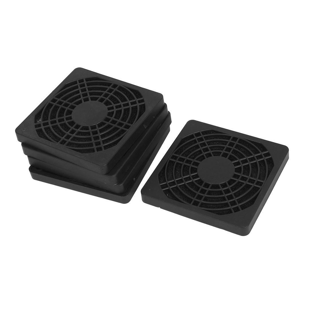 80mm Computer PC Dustproof Cooler Fan Case Cover Dust Filter Mesh 5pcs