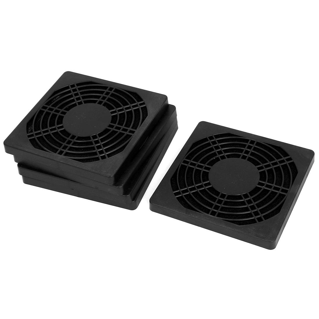 110mm Computer PC Dustproof Cooler Fan Case Cover Dust Filter Mesh 5pcs