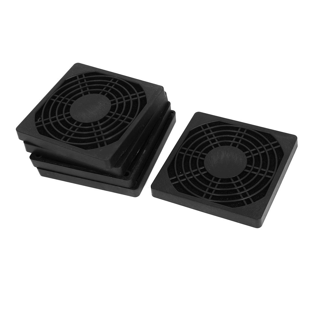 90mm Computer PC Dustproof Cooler Fan Case Cover Dust Filter Mesh 5pcs