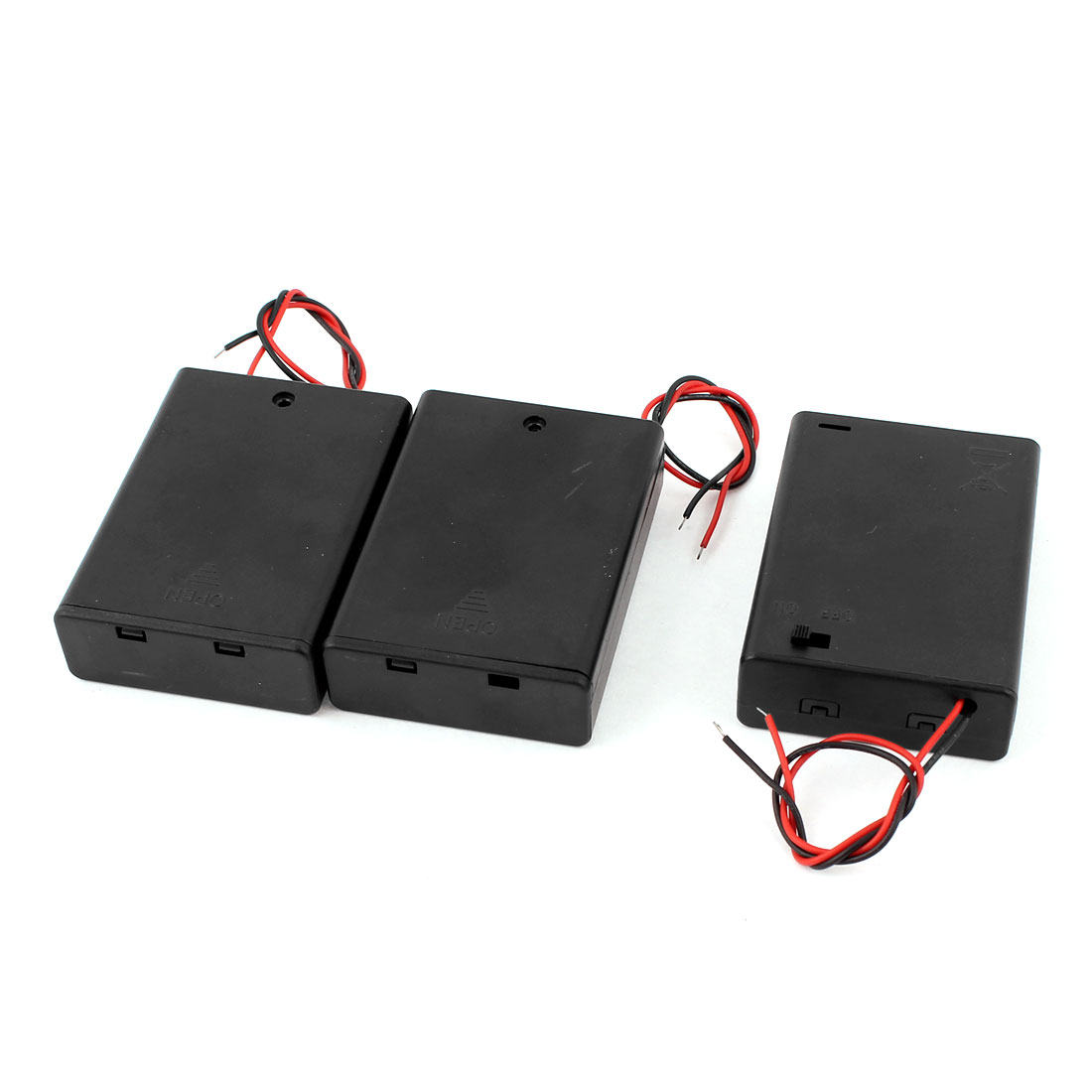 3pcs ON/OFF Switch Battery Holder Case Cell Box for 3 x 1.5V AA 2A Batteries