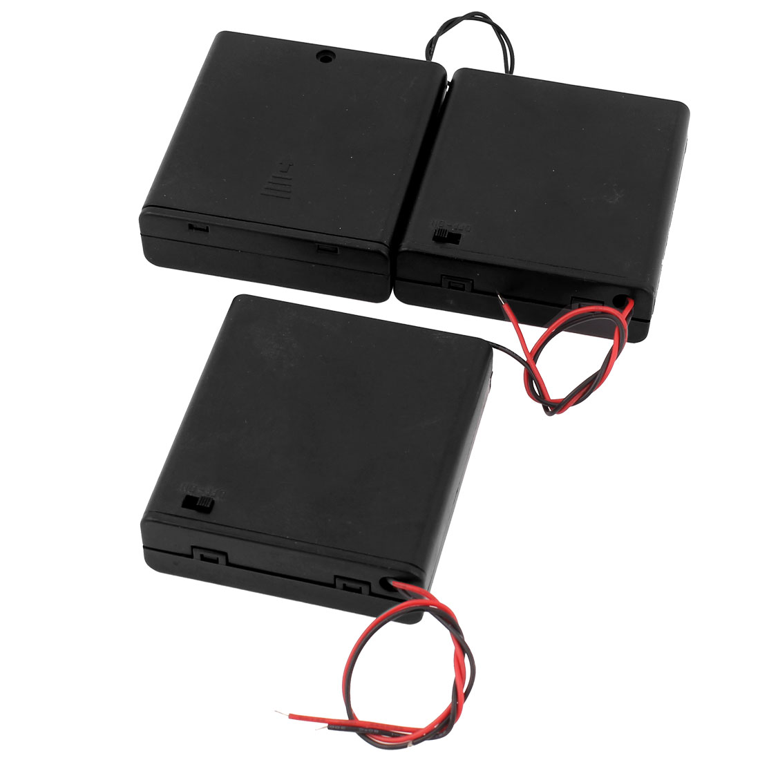 3pcs On-Off Switch Battery Holder Case Cell Box for 4 x 1.5V AA 2A Batteries