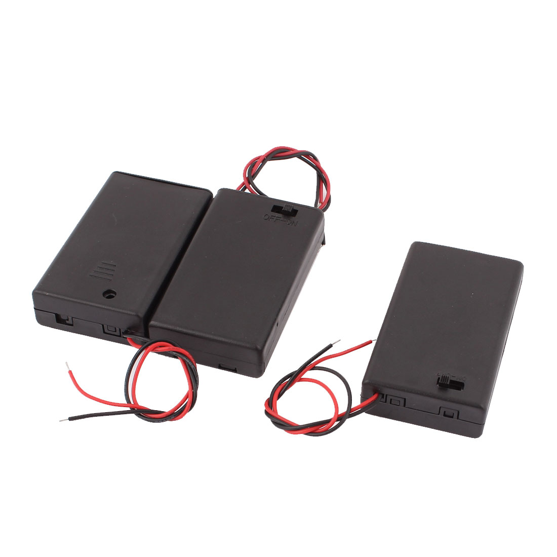 3pcs ON/OFF Switch Battery Holder Case Cell Box for 3 x 1.5V AAA 3A Batteries