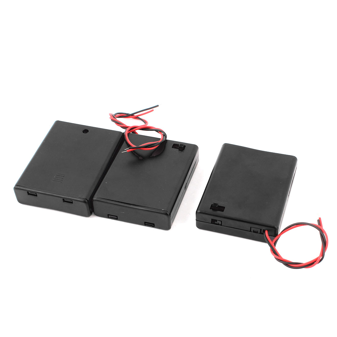 3pcs ON/OFF Switch Battery Holder Case Cell Box for 4 x 1.5V AAA 3A Batteries
