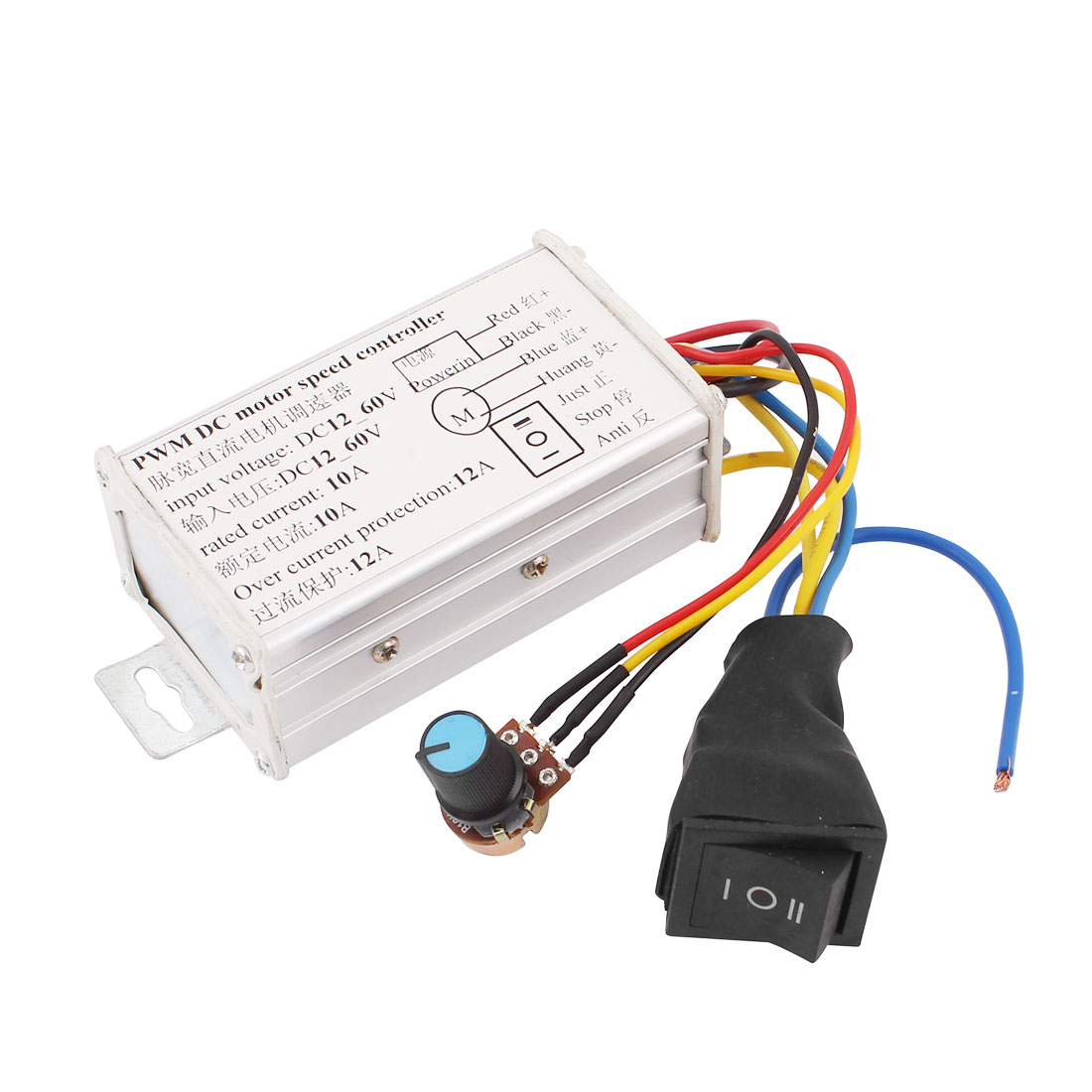 12V-60V 10A Pulse Width Modulator PWM DC Motor Speed Controller Control Switch