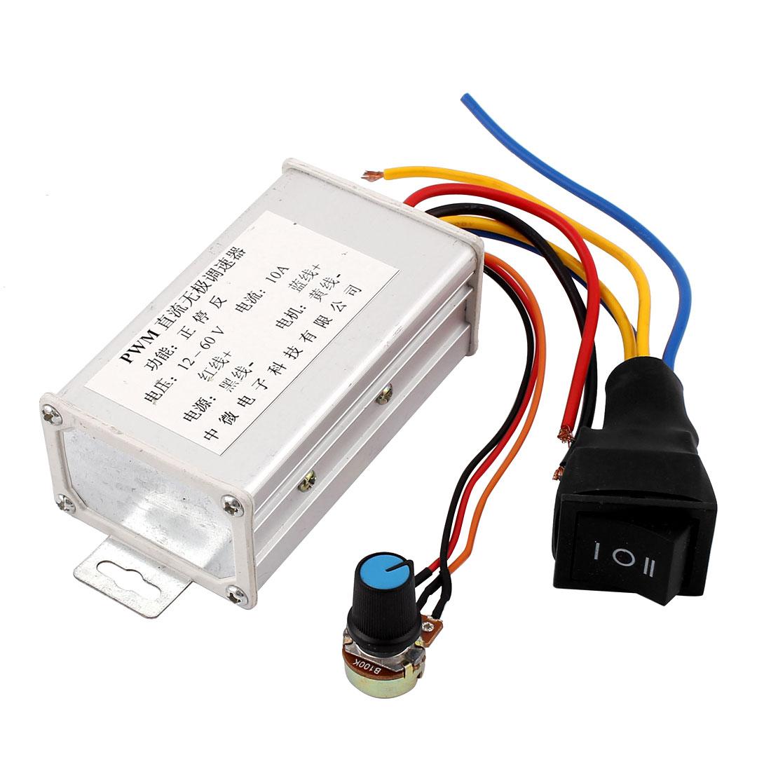 12V-60V 10A Pulse Width Modulator PWM DC Motor Speed Controller Regulator