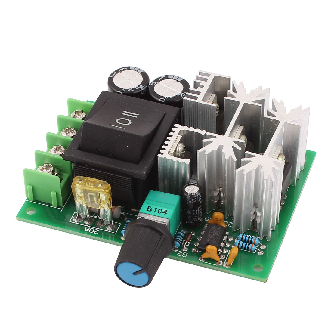 10V-60V 20A Pulse Width Modulator PWM DC Motor Speed Controller Regulator