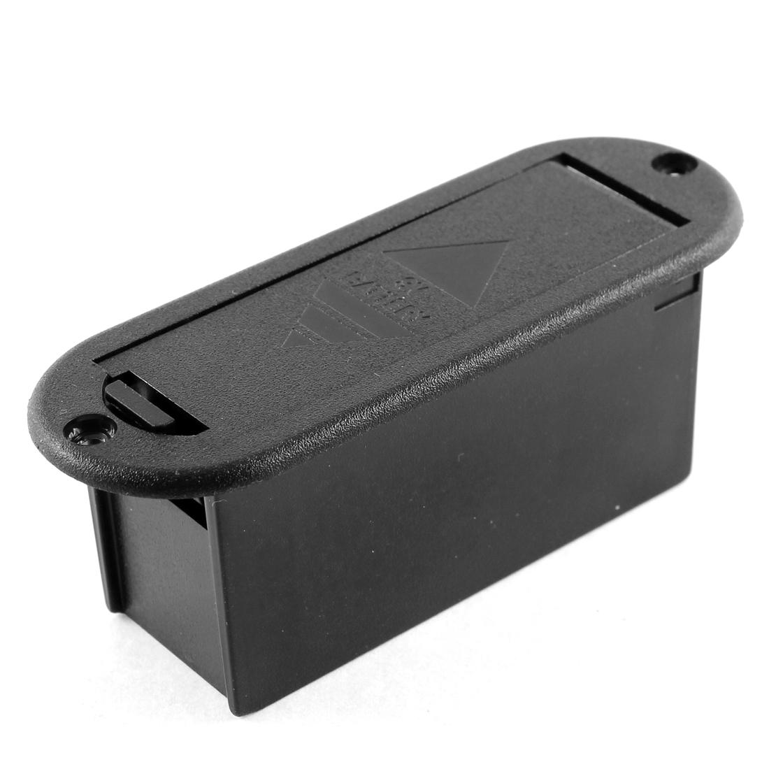 9V Generic Guitar Bass Pickup Battery Holder Box Case Black