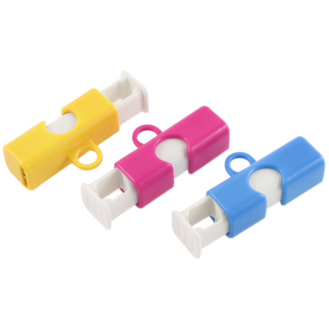 3 Pcs Plastic Storage Bag Clip Holder Kitchen Tool Sealing Clips