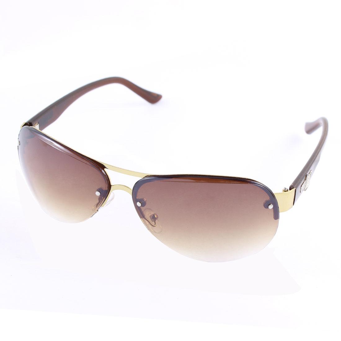 Unisex Half Rim Outdoor Sports Sunglasses Eyewear Eyekeeper Brown