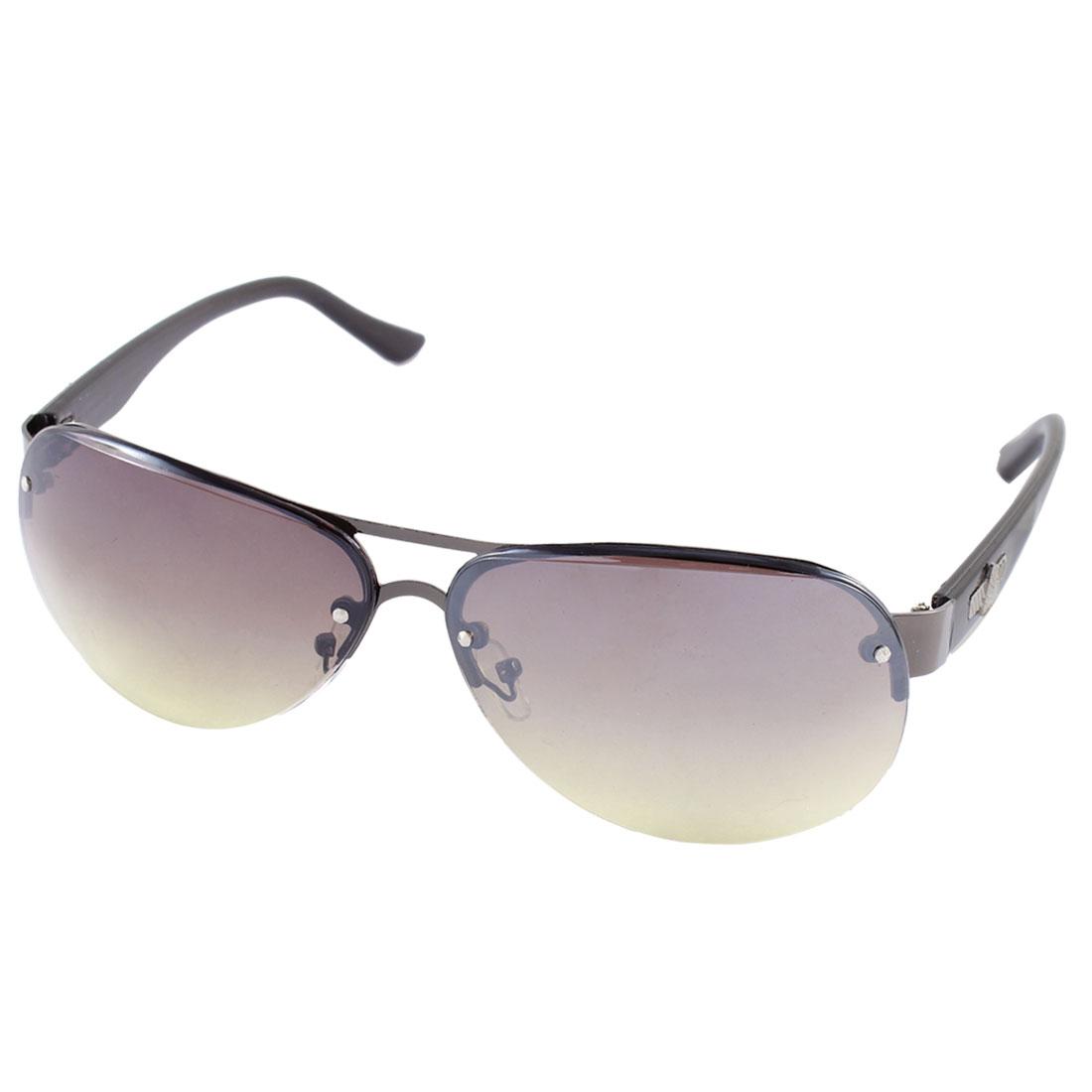 Unisex Plastic Half Rim Sunglasses Outdoor Driving Eyewear Protector