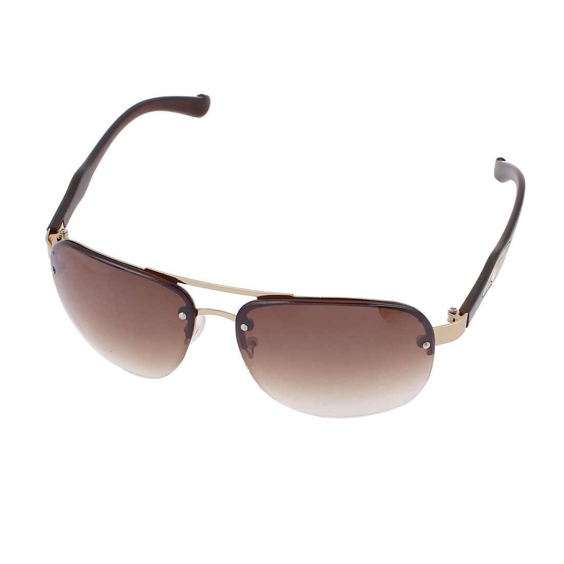 Retro Style Half Rim Sunglasses Outdoor Eyekeeper Eyewear Black