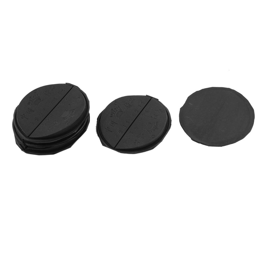 5 Pairs Rubber Non-Slip Shoe Repair Pad Taps Black