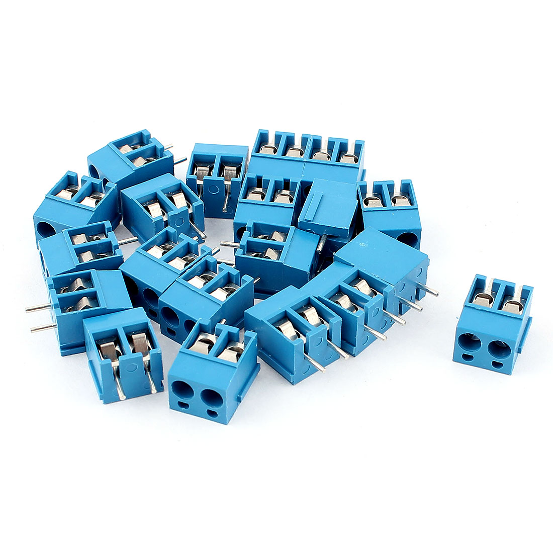 300V 10A 5.08mm Pitch 2P PCB Mount Screw Terminal Block Connector 20pcs