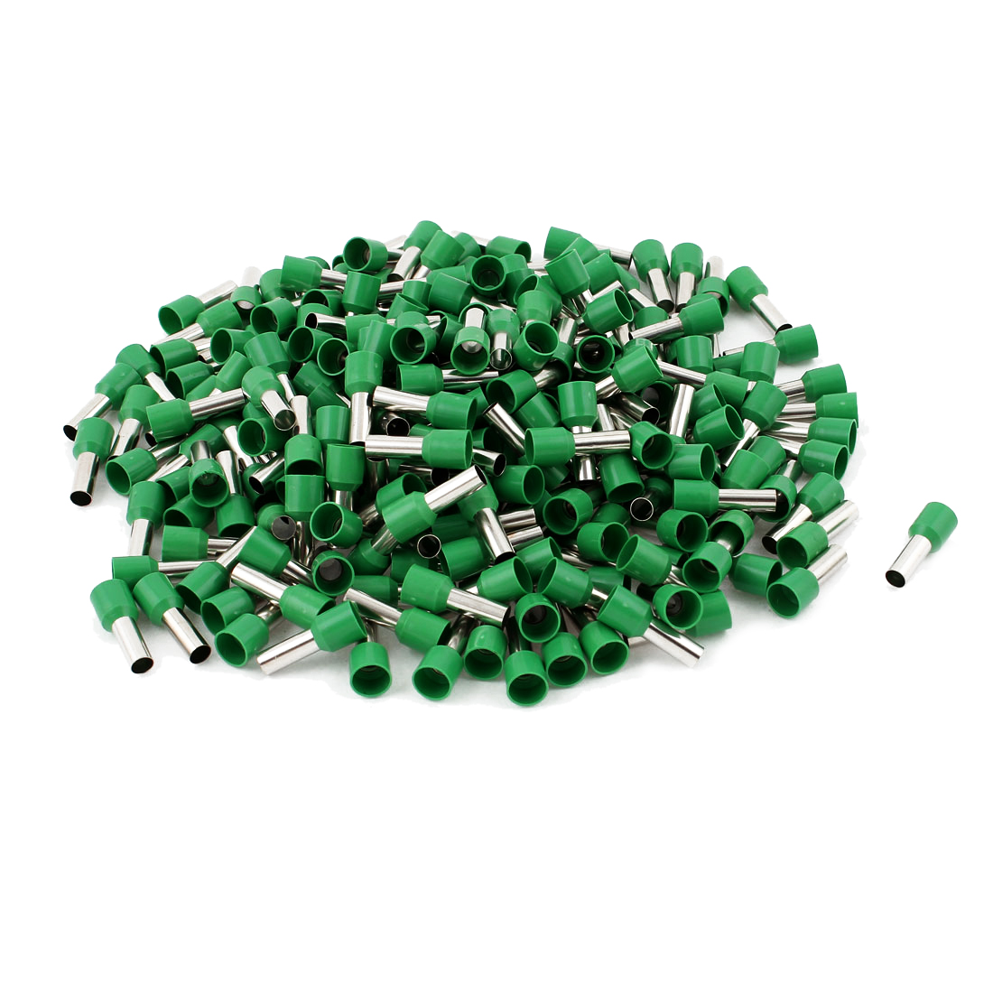 250pcs Green Wire Crimp Connector Insulated Ferrule Cord End Terminal AWG 8
