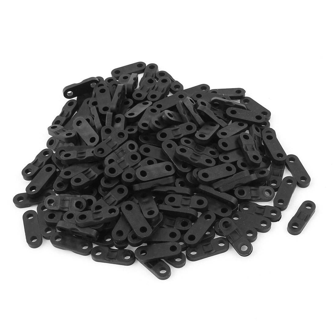 200Pcs Black Plastic Cable Clip Clamp Wire Tie Mount Screws Fixed Base Fasteners