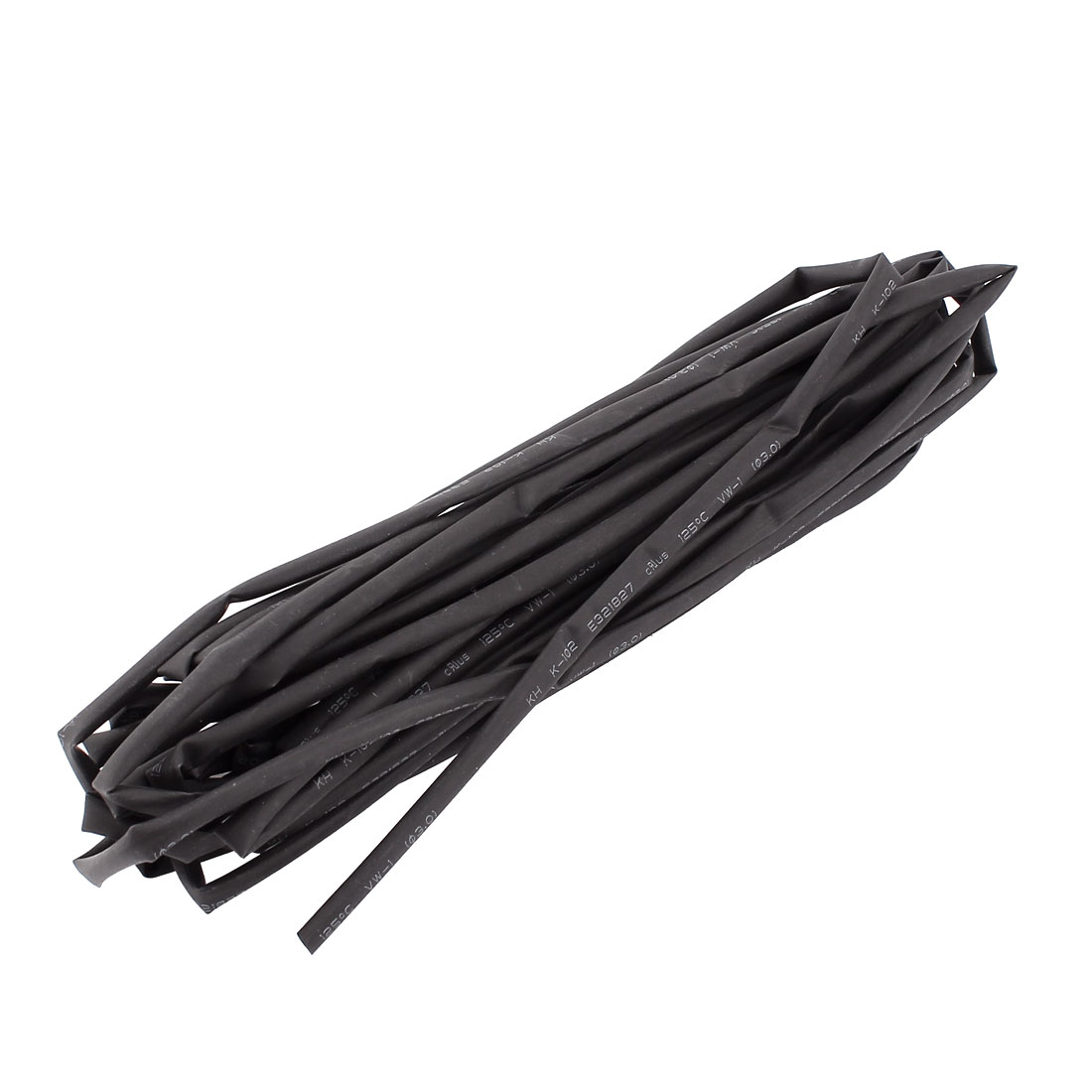 Black 3mm Dia 2:1 Polyolefin Heat Shrink Tubing Shrinkable Tube 7M 23Ft