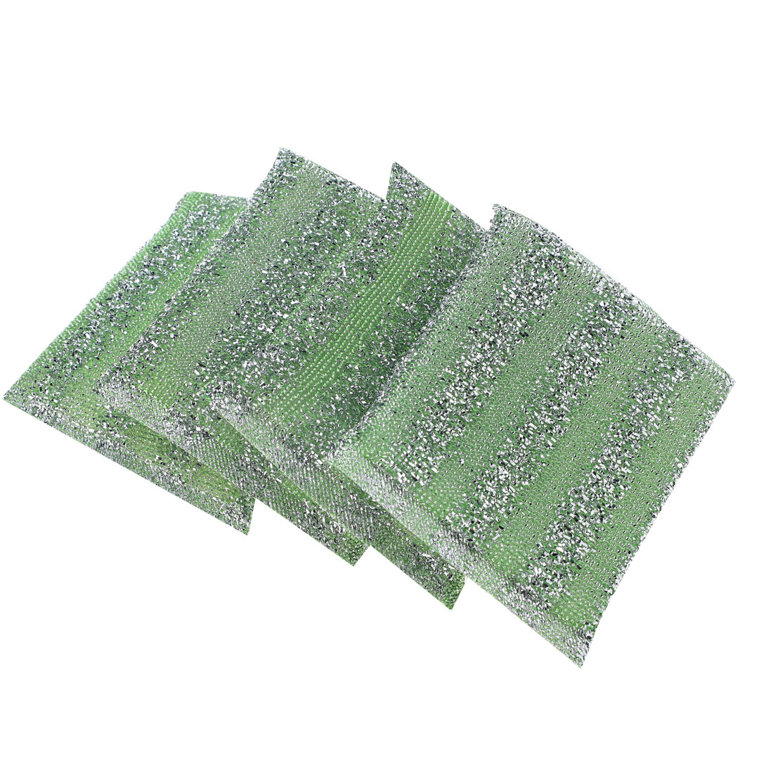 Home Kitchen Bowl Dish Pot Wash Clean Scrub Sponge Cleaning Pads Green 4pcs