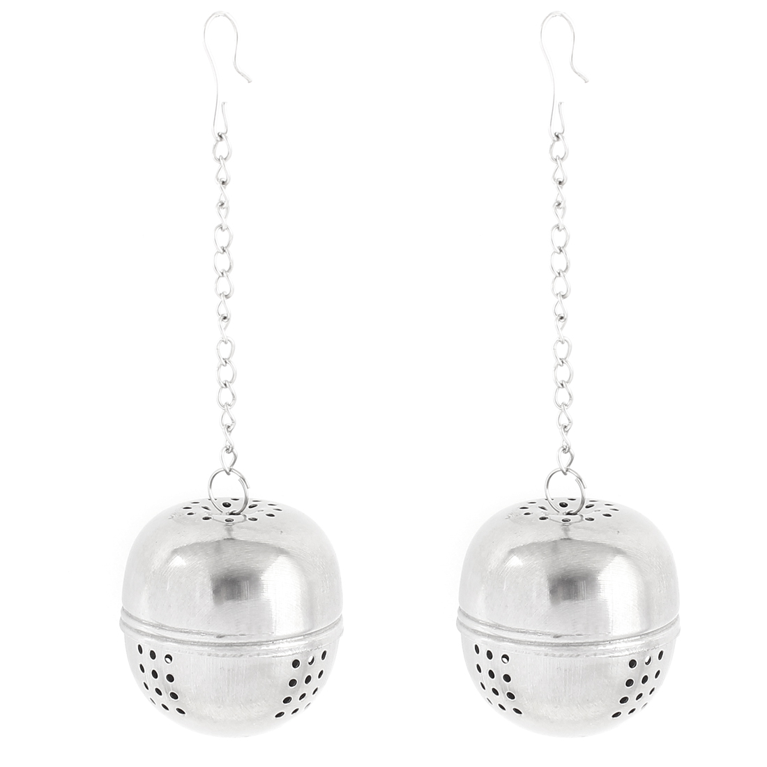 2pcs 4cm Dia Stainless Steel Ball Strainer Tea Leaf Spice Perfume Infuser