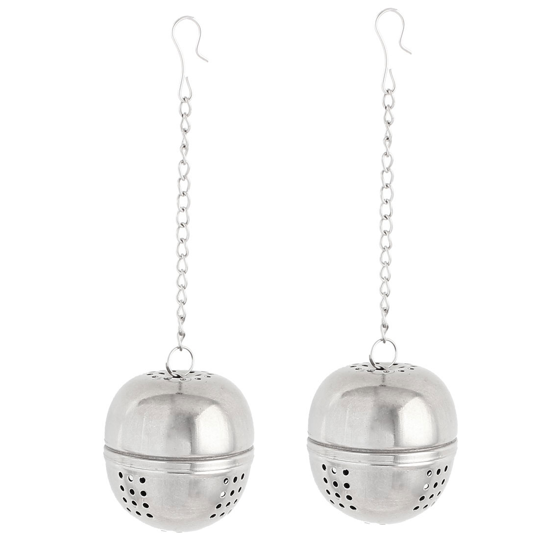2pcs 45mm Dia Stainless Steel Ball Strainer Tea Leaf Spice Perfume Infuser