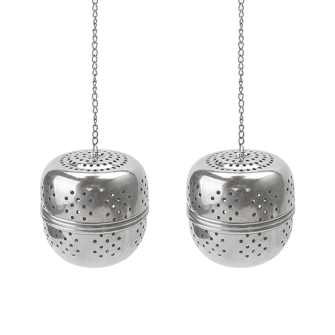 2pcs 55mm Dia Stainless Steel Ball Strainer Tea Leaf Spice Perfume Infuser