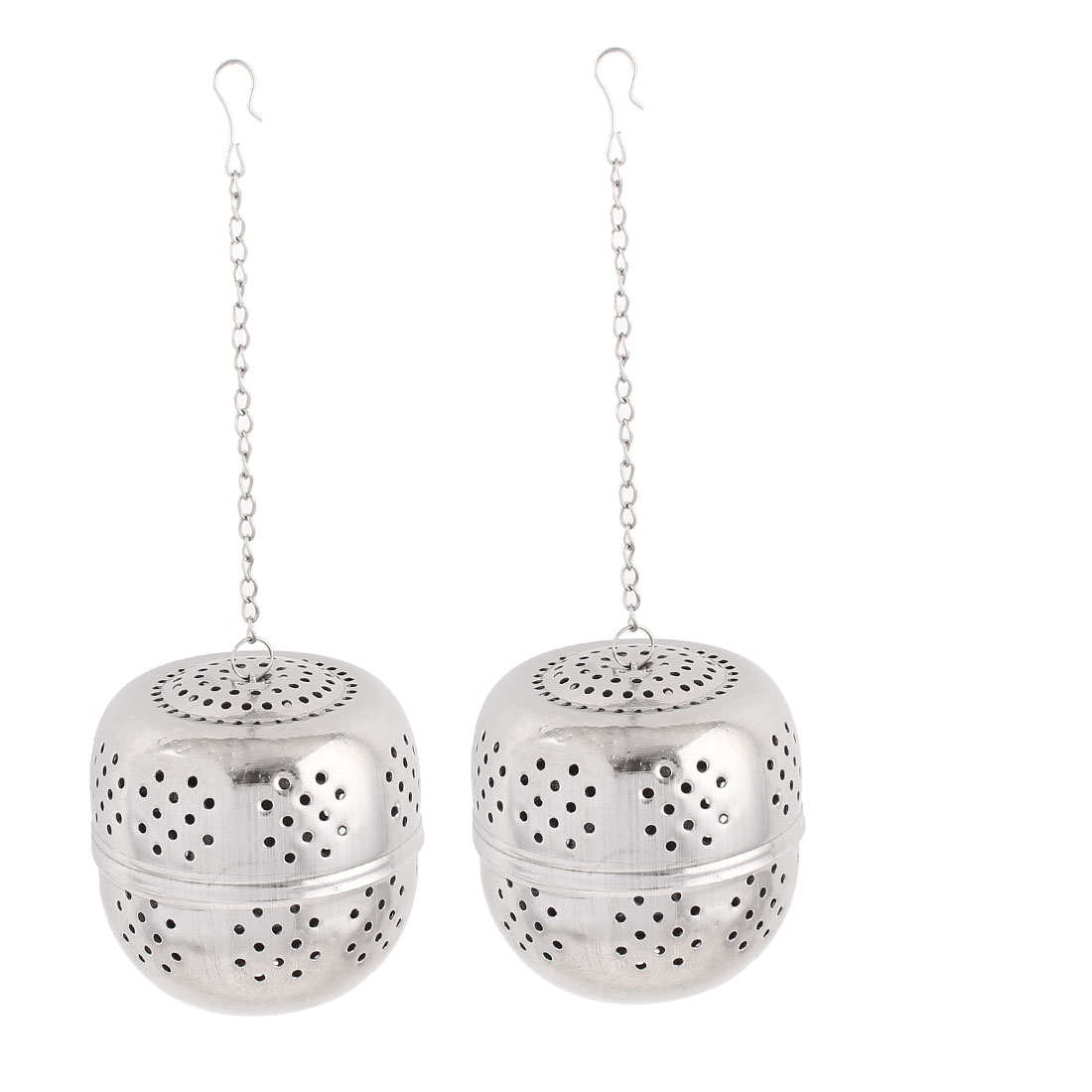 2pcs 65mm Dia Stainless Steel Ball Strainer Tea Leaf Spice Perfume Infuser