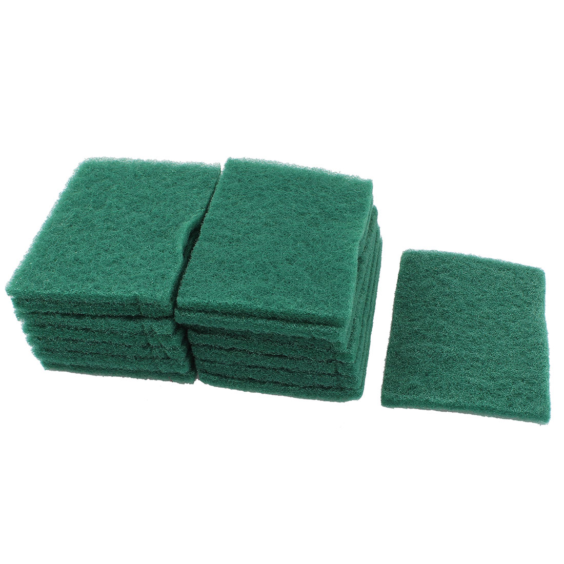Home Kitchen Bowl Dish Wash Clean Scrub Sponge Cleaning Pads Green 15pcs