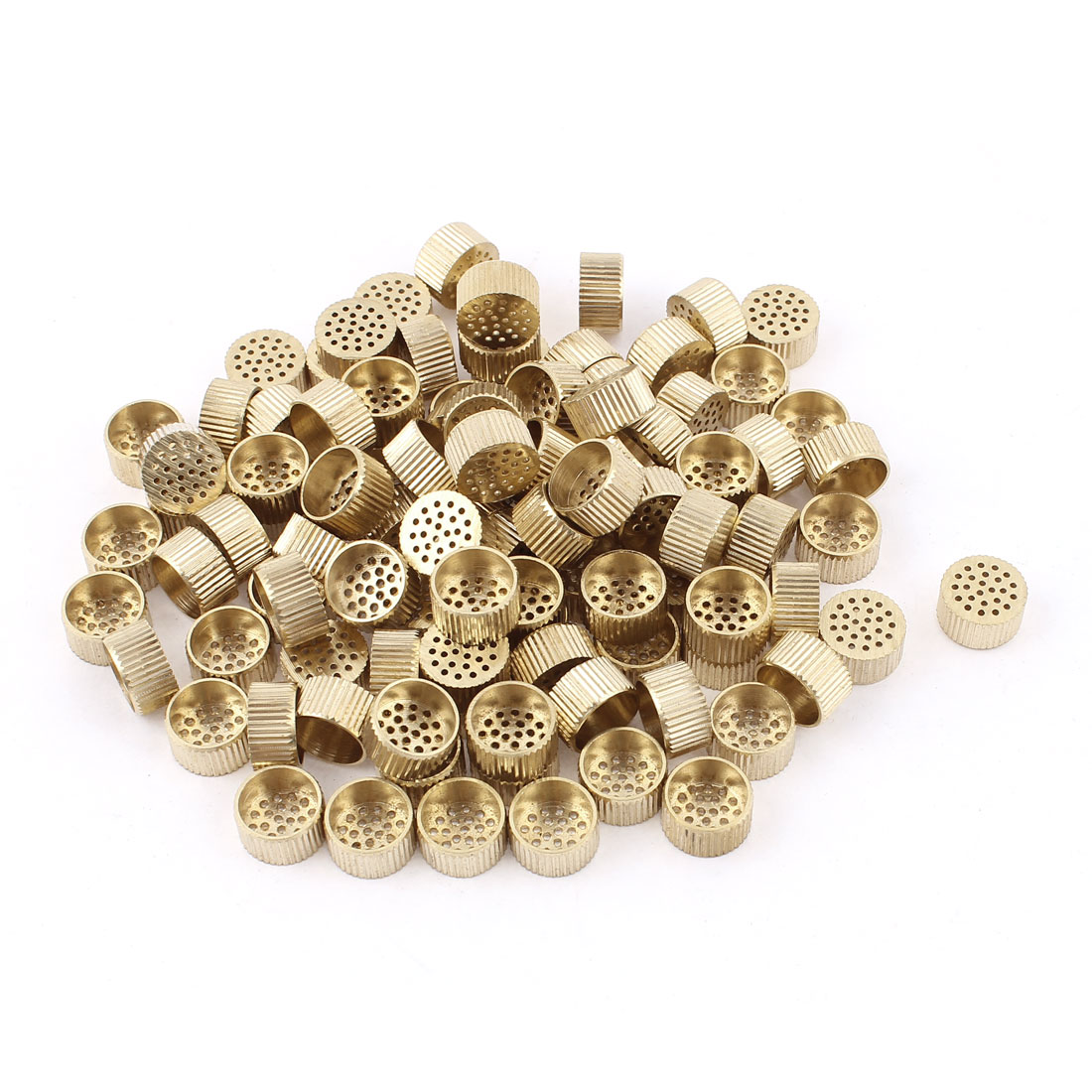 100pcs Gold Tone Brass Hole Type Core Box Air Release Vents 10mm x 5mm