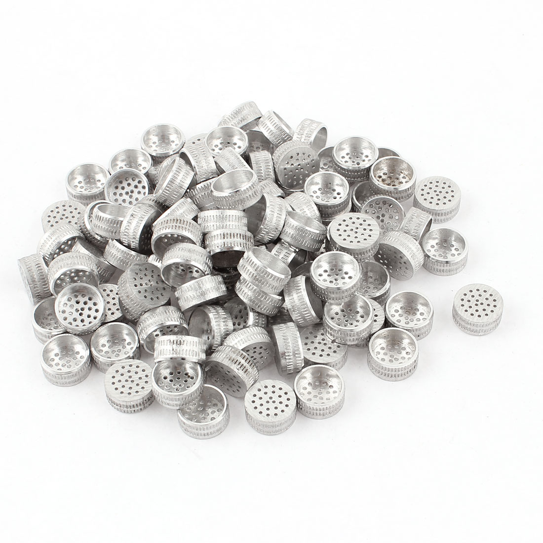 100pcs Silver Tone Aluminium Hole Type Core Box Vents 12mm x 5mm