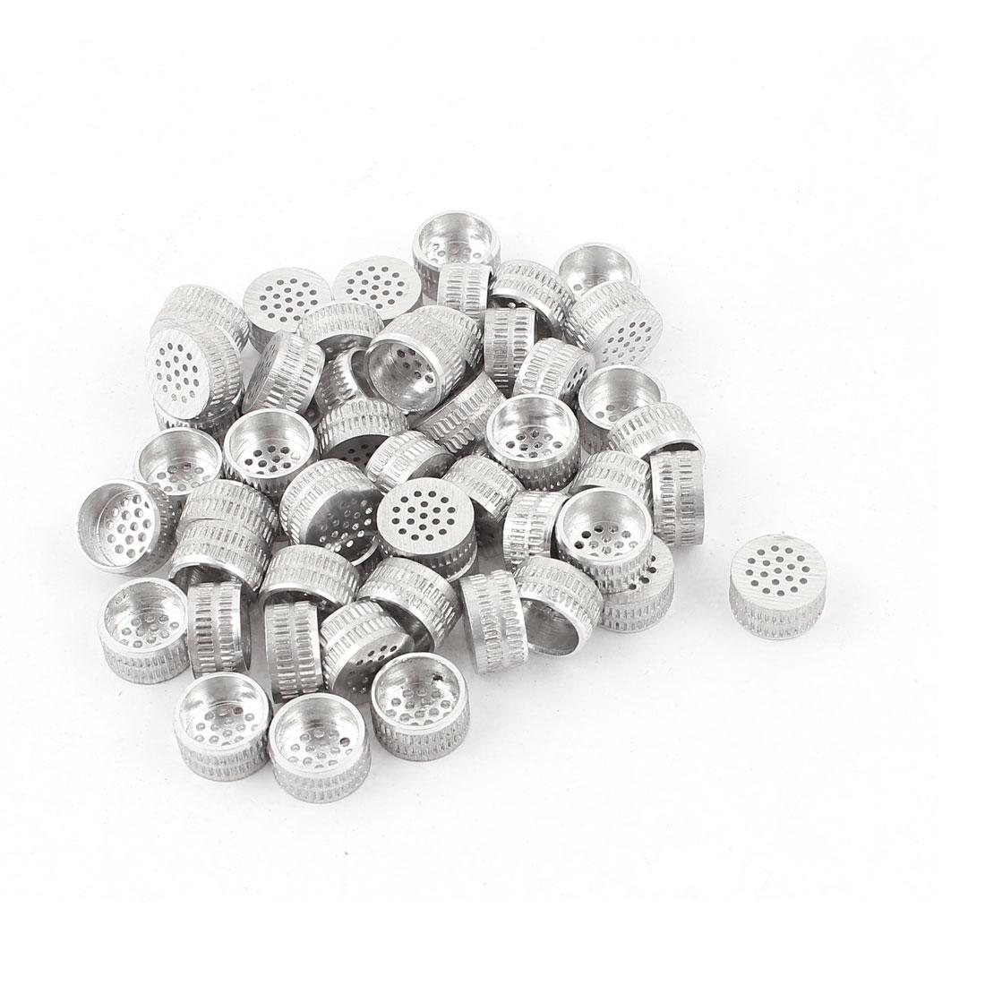 50pcs Silver Tone Aluminium Hole Type Core Box Vents 10mm x 5mm