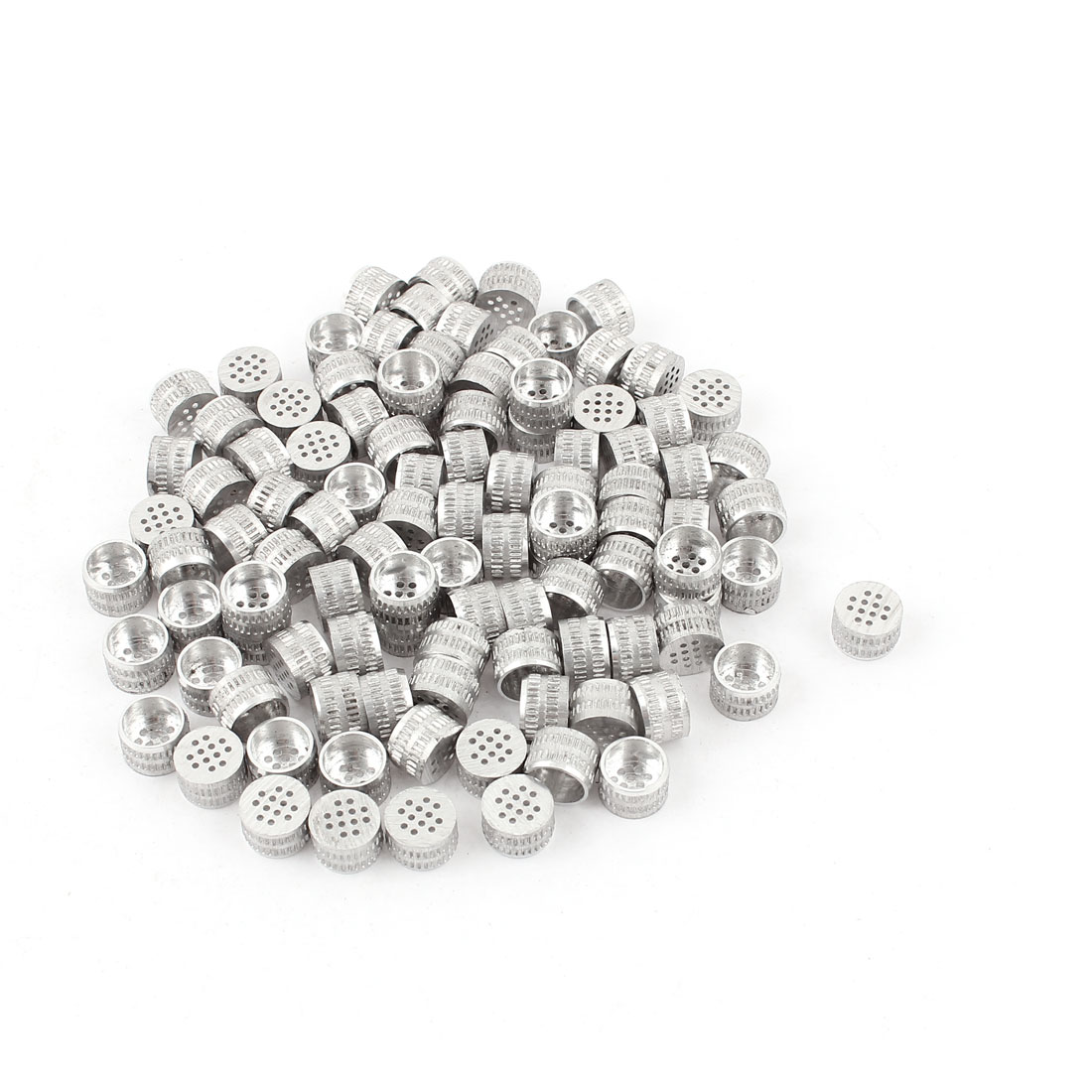 100pcs Silver Tone Aluminium Hole Type Core Box Vents 8mm x 5mm