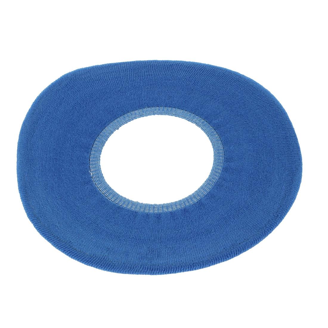 Elastic O Shape Warmer Pad Mat Deep Blue for Toilet Closestool Seat