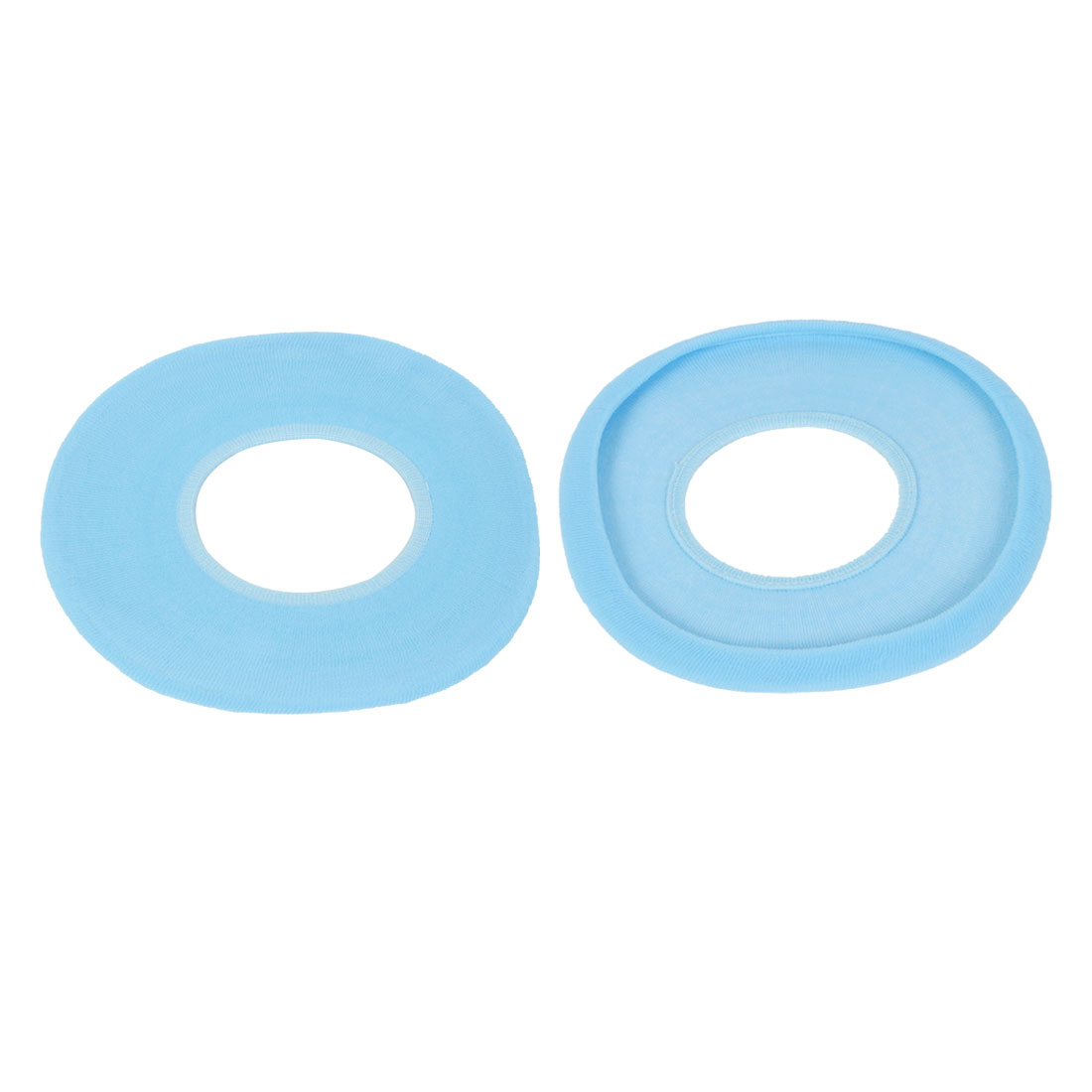 2Pcs Soft Washable Bathroom Warmer Toilet Seat Cover Lid Top Pads Cyan