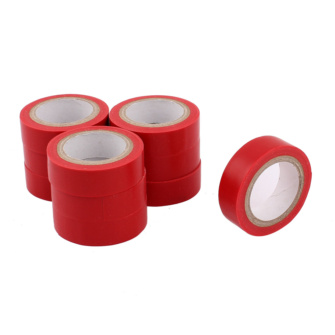 33Ft Long 15mm Wide PVC Self-adhesive Electrical Insulation Tape Red 10 Rolls