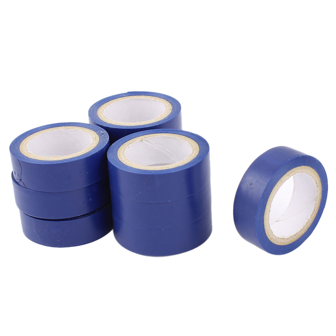 33Ft Long 15mm Wide PVC Self-adhesive Electrical Insulation Tape Blue 10 Rolls